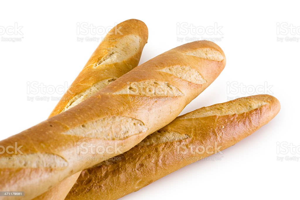 Baguettes w/Clipping Path royalty-free stock photo