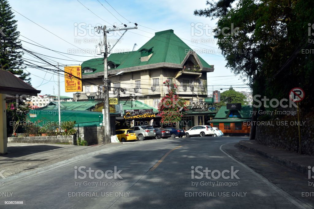 Baguio City Parks Sightseeing, the summer Capital of Philippines stock photo