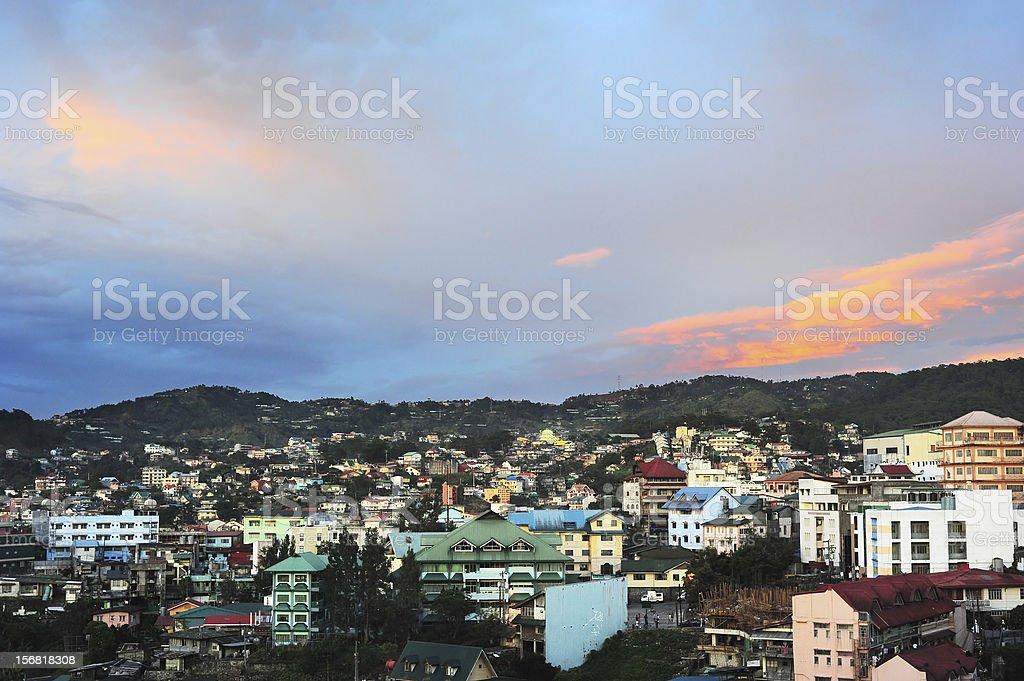 Baguio city stock photo