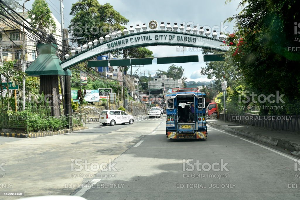 Baguio City Sightseeing, the summer Capital of Philippines stock photo