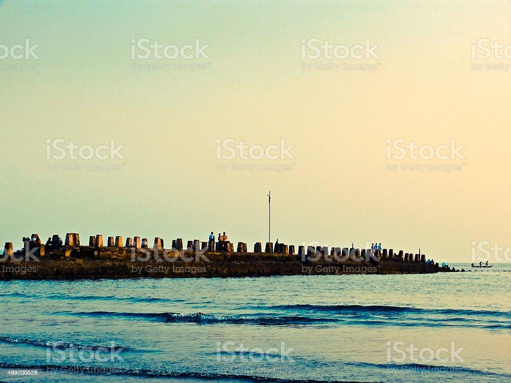 Bagwati Harbor, Ratnagiri, Maharashtra, India stock photo
