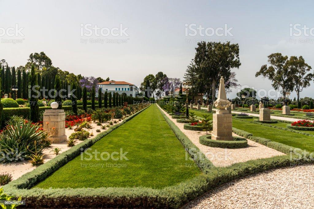 Jardins Bahai em Acre, Israel - foto de acervo