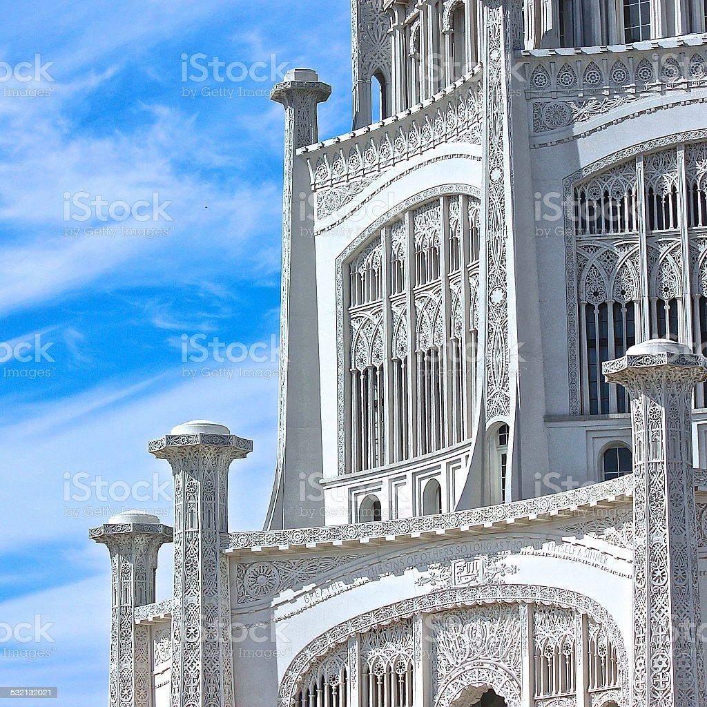 Baha'i House of Worship partial view stock photo