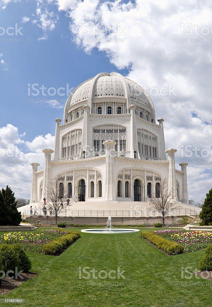 Bahai temple Chicago Illinois stock photo