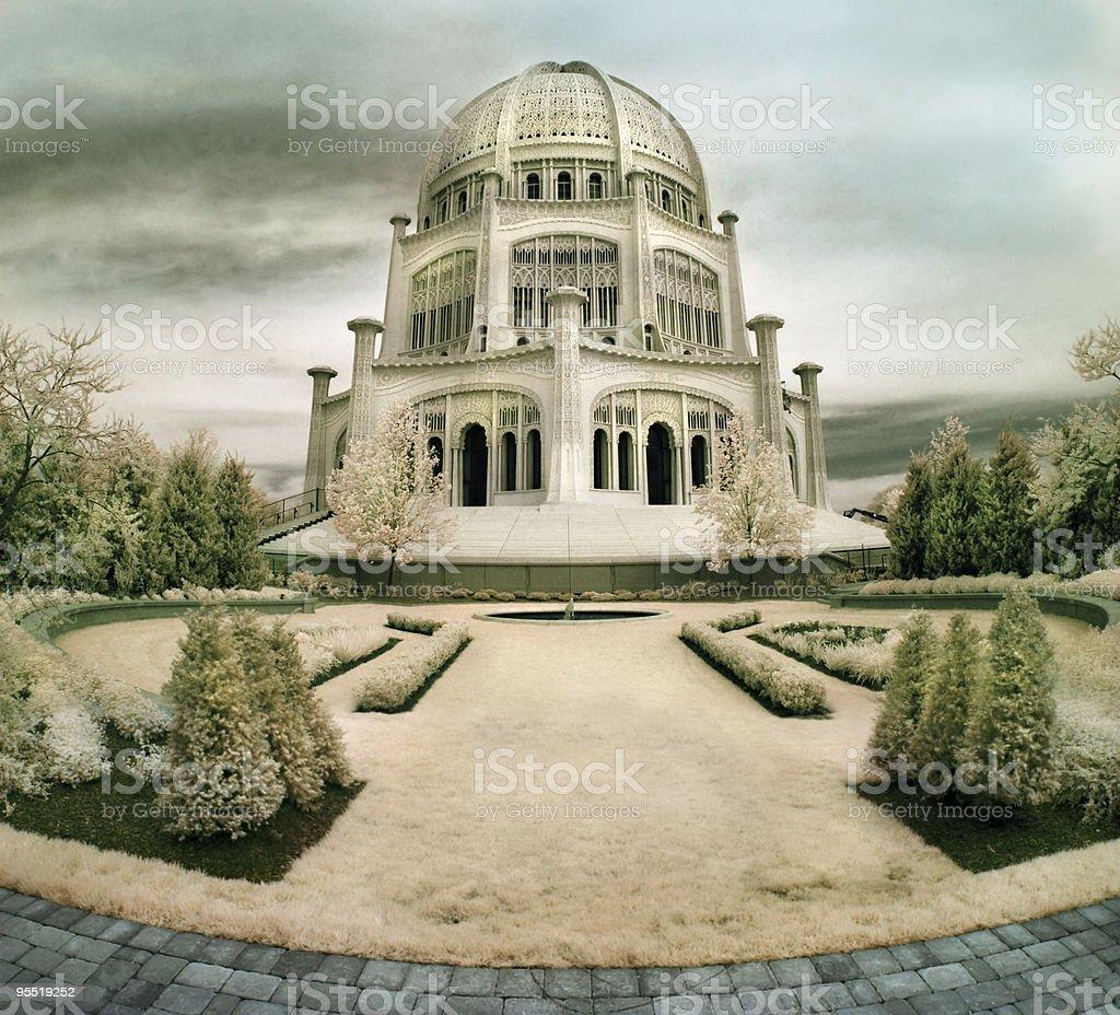 Bahai Temple in Illinois stock photo