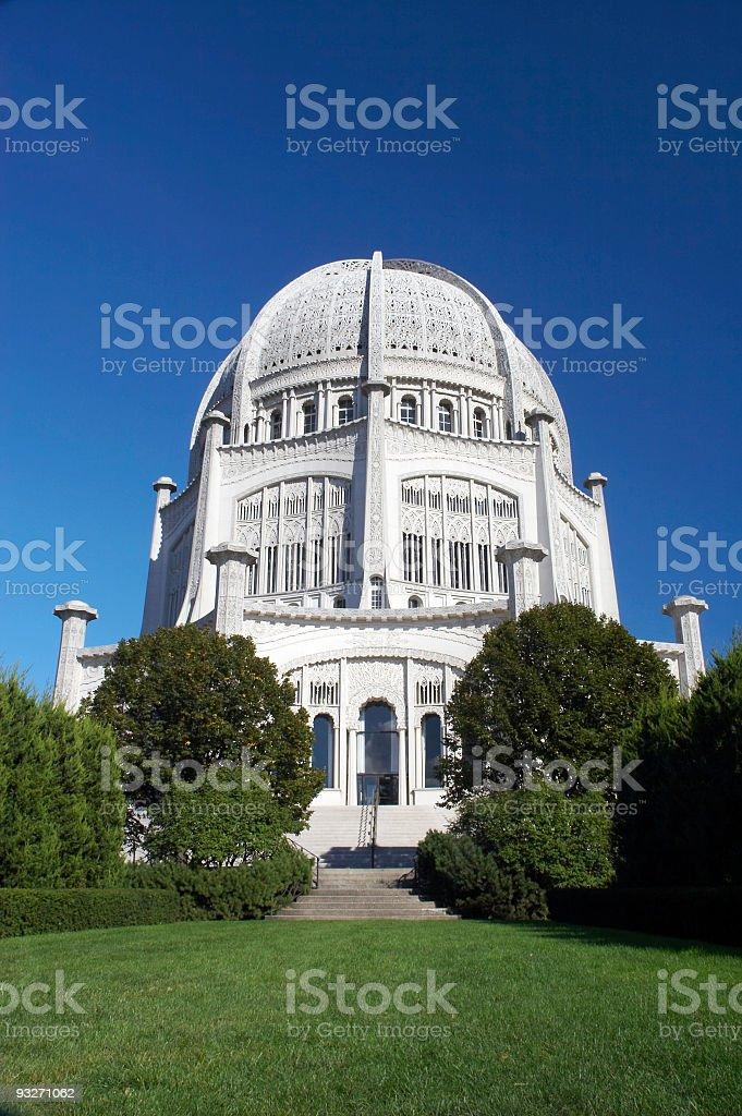Baha'i Temple stock photo