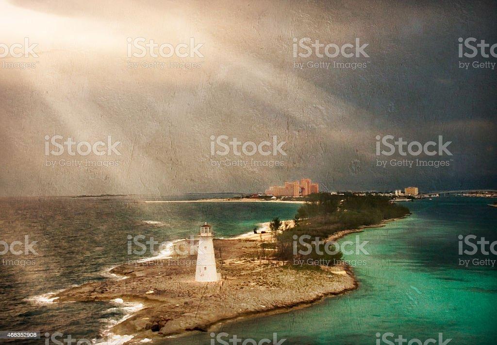 Bahama with Texture royalty-free stock photo
