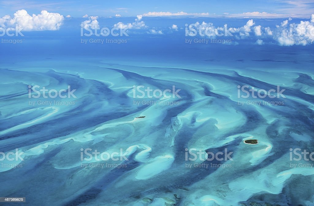 Bahamas aerial stock photo