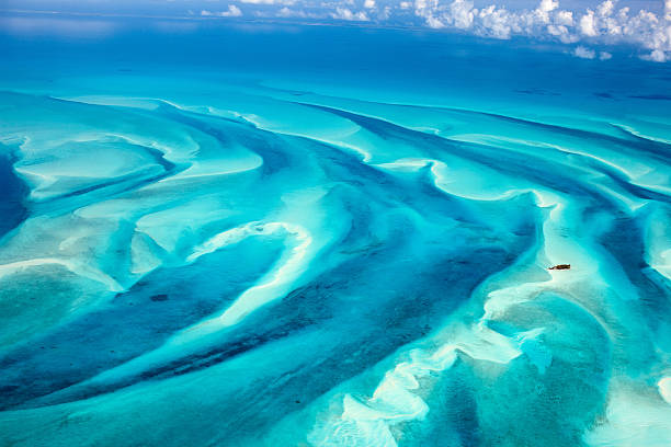 Bahamas aerial stock photo