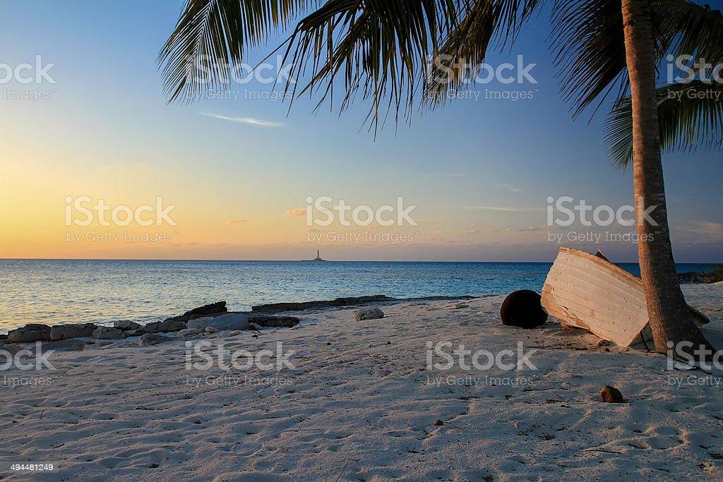 Bahamas Boat Wreck stock photo