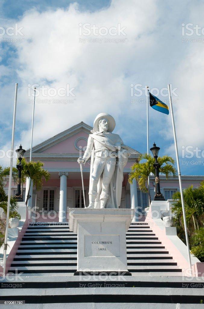 Bahamas' Columbus Statue stock photo