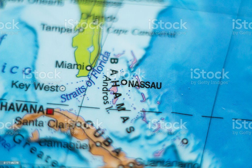 Bahamas Country Map Stock Photo IStock - Bahamas country political map