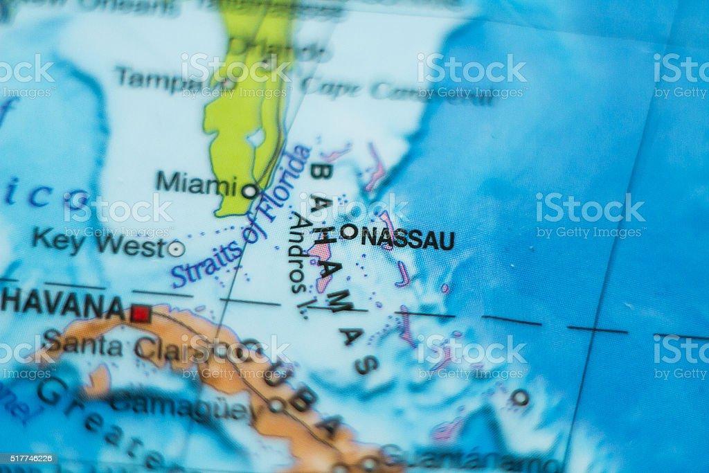 Bahamas country map . stock photo
