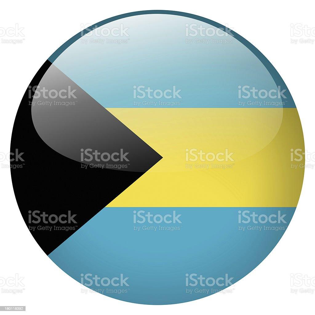 bahamas flag button stock photo
