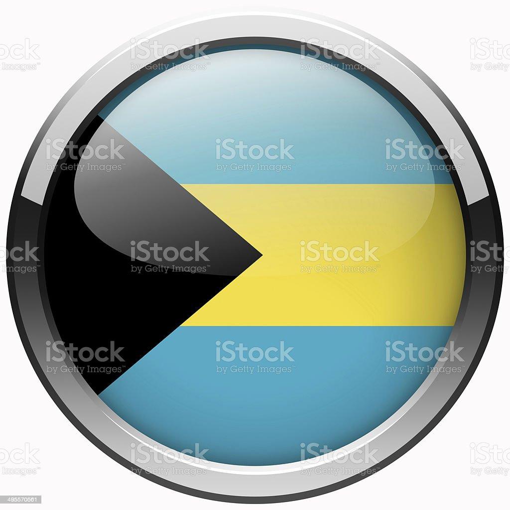 bahamas flag gel metal button stock photo