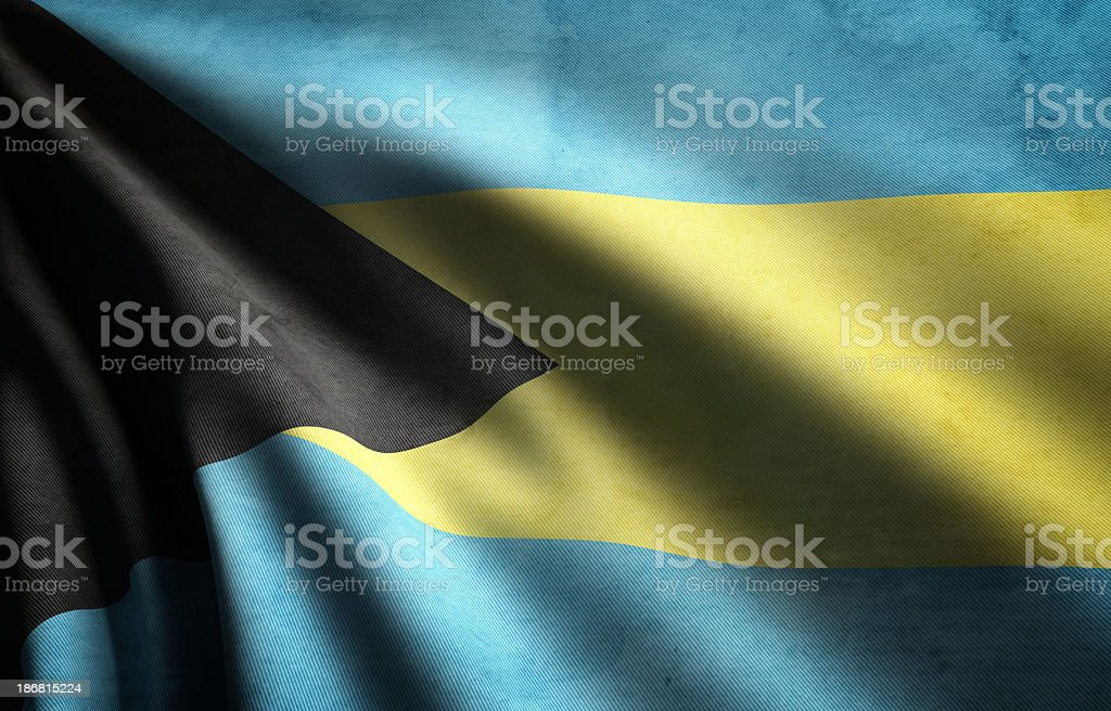 Bahamas Flag stock photo