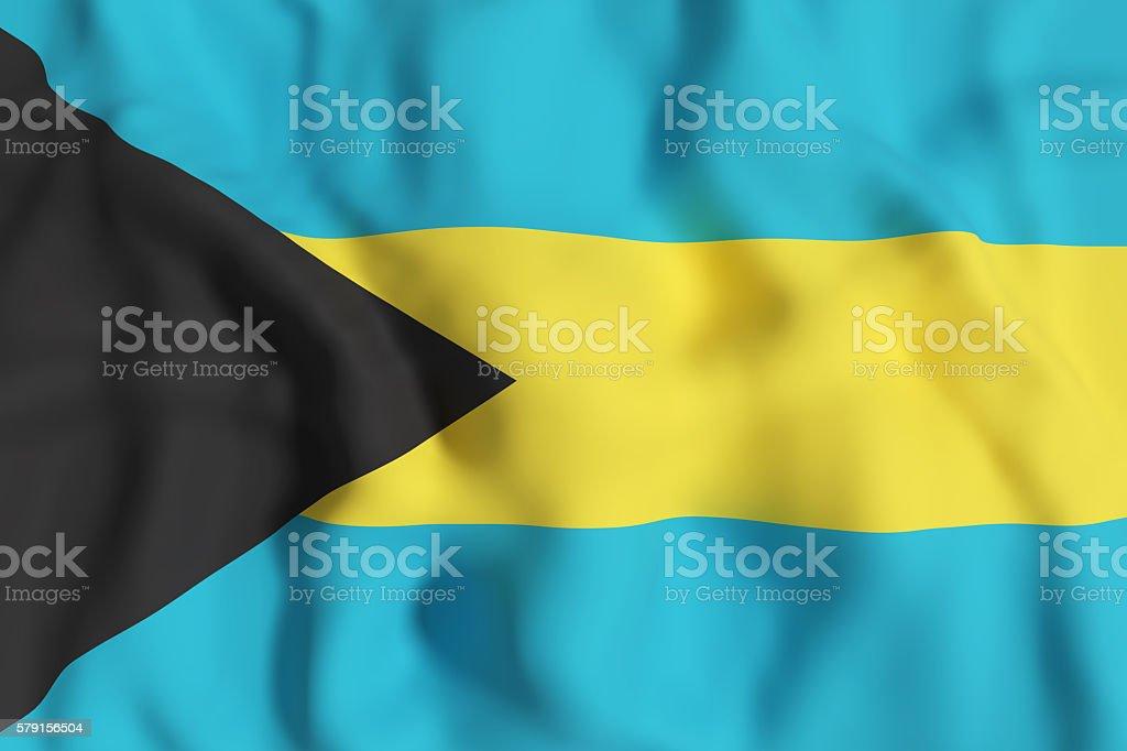 Bahamas flag waving stock photo