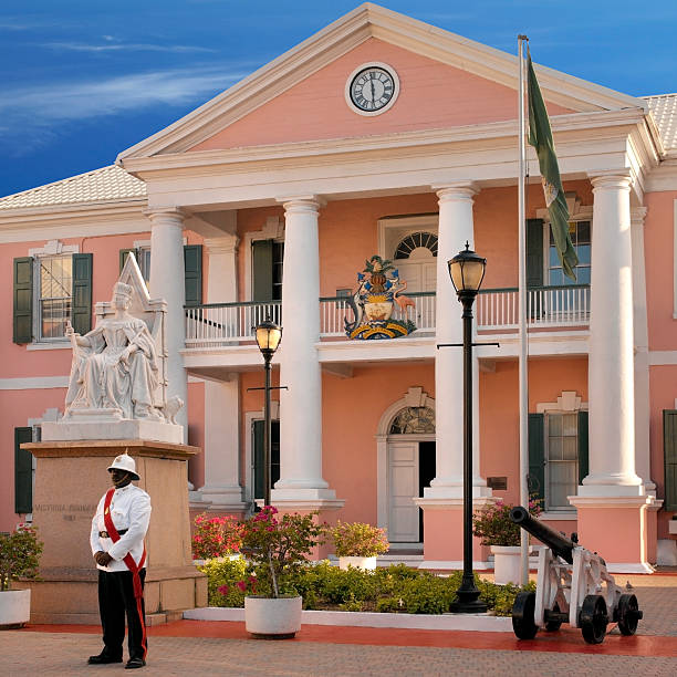Bahamas - Government House stock photo