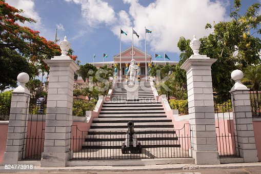 Government House - the official residence of the Governor General of the Bahamas. Nassau, Bahamas.