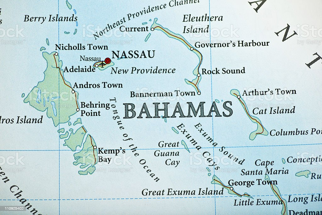 Bahamas Map Stock Photo More Pictures of Backgrounds iStock