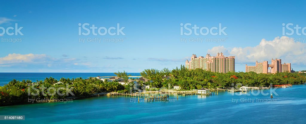 Bahamas scenery at Nassau, caribbean. stock photo