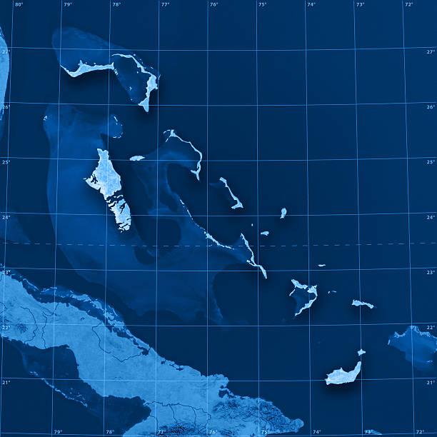 Bahamas Topographic Map stock photo