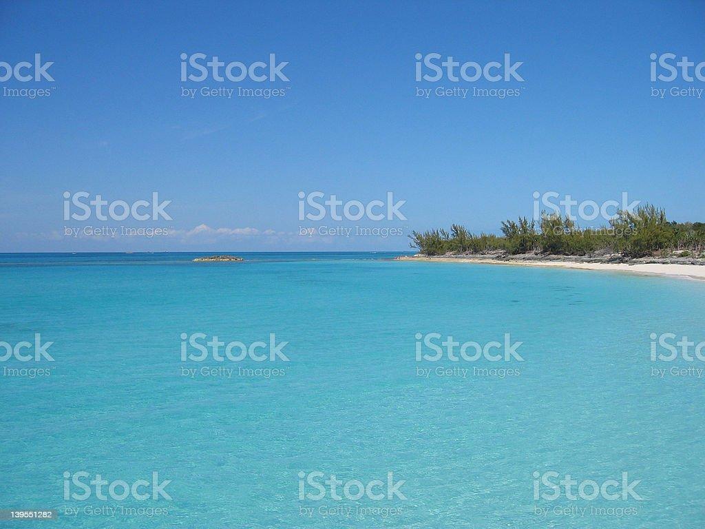 Bahamas Water royalty-free stock photo