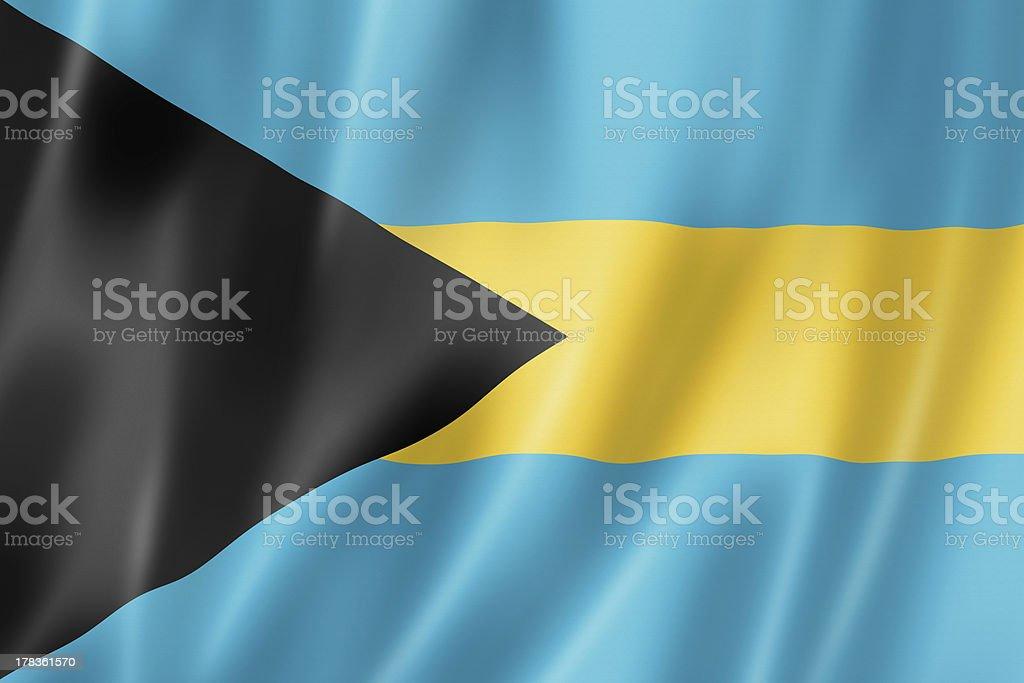 Bahamian flag stock photo