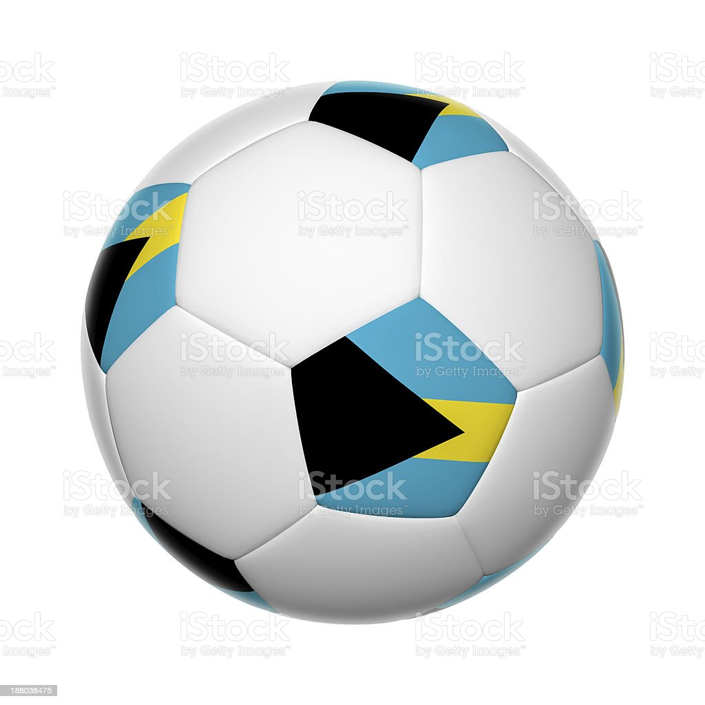 Bahamian soccer ball stock photo
