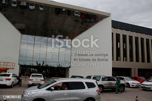 salvador, bahia / brazil - march 5, 2018: Facade of the Bahia Court of Justice (TJ-BA), located at the Bahia Administrative Center in Salvador.