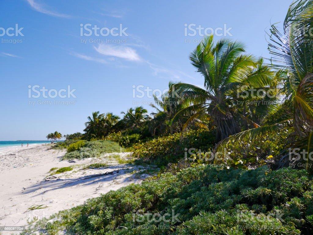 Bahia del Espiritu Santo (Beach), Yucatan stock photo
