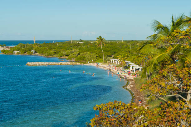 Bahia Honda Beach From the Railroad Bridge - foto stock