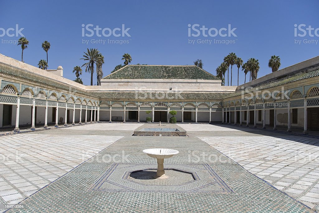 Bahia Palace stock photo