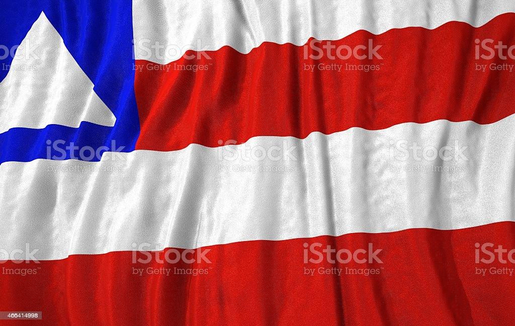 Bandeira do estado de ilustração 3d da Bahia - foto de acervo