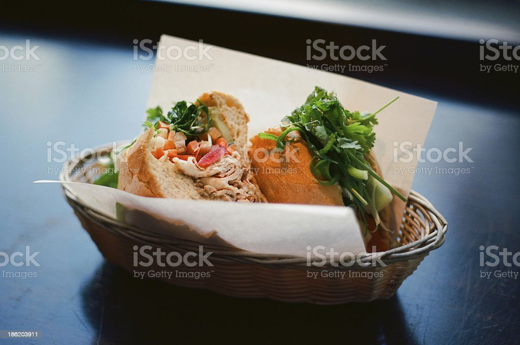 Bahn Mi Vietnamese Sandwich stock photo