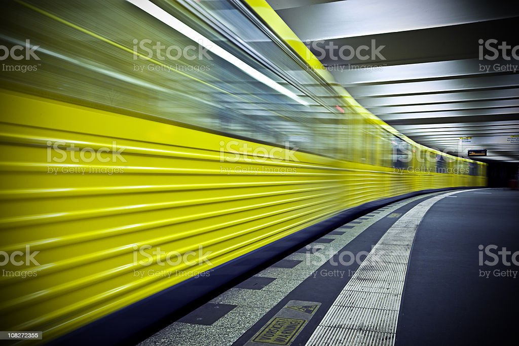 U Bahn subway royalty-free stock photo