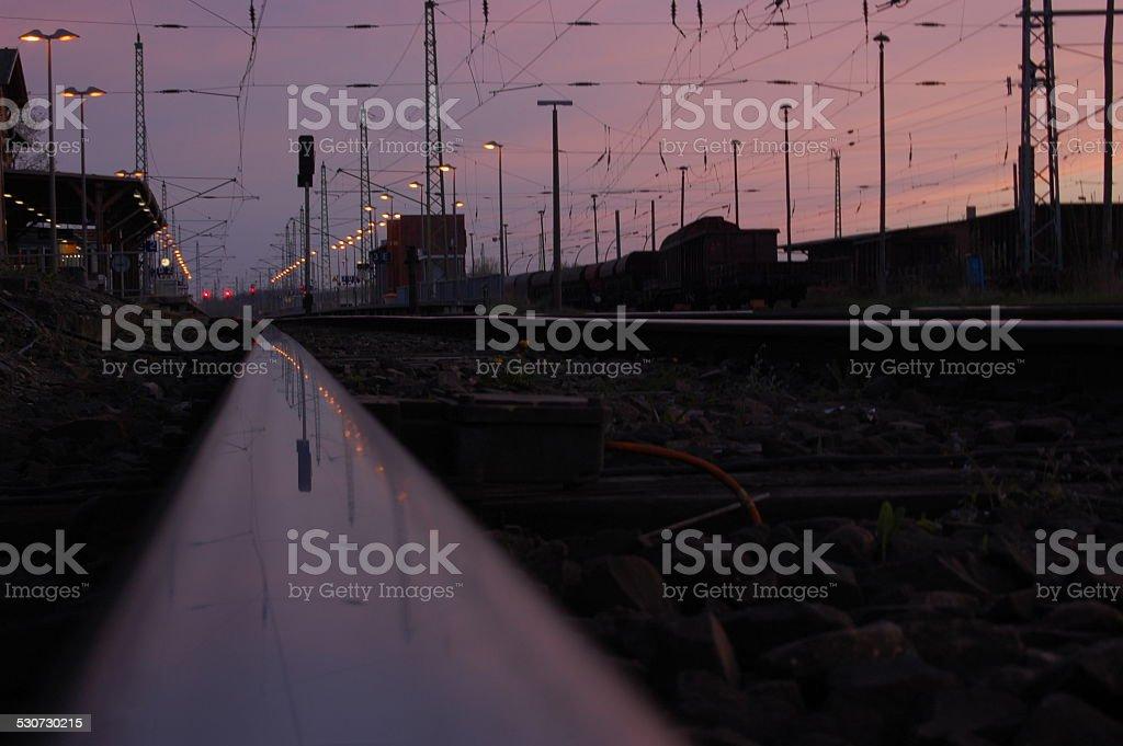Bahnhof stock photo