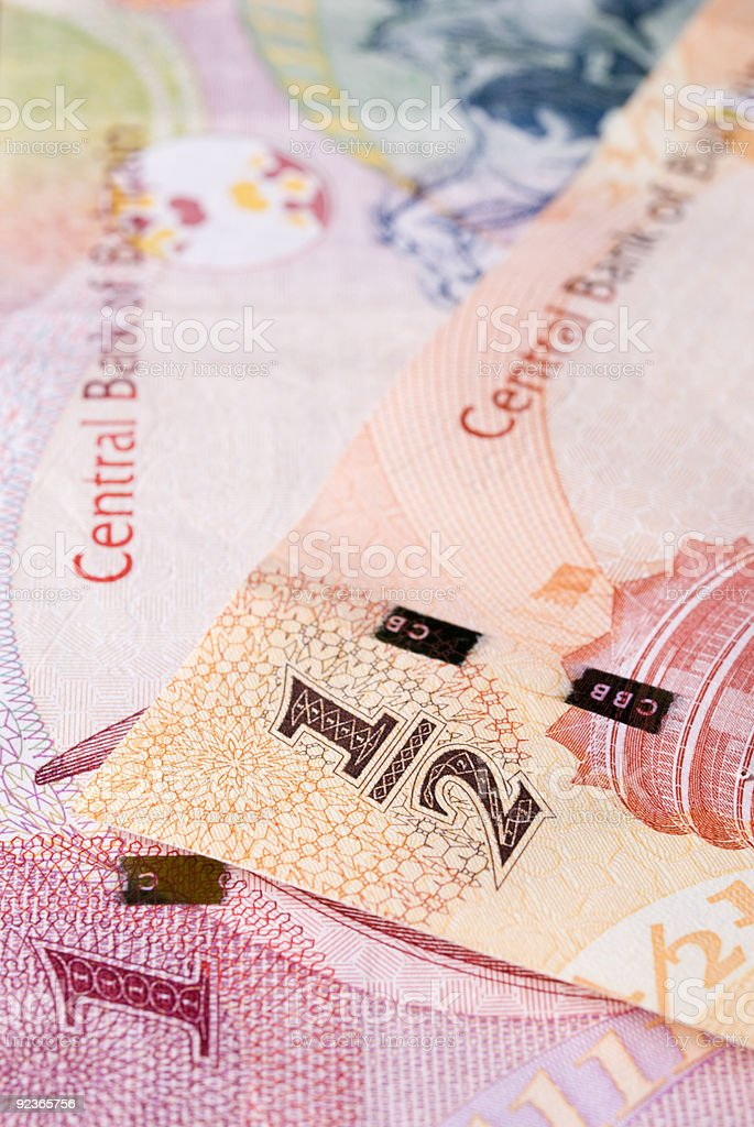 Bahrain currency banknotes royalty-free stock photo