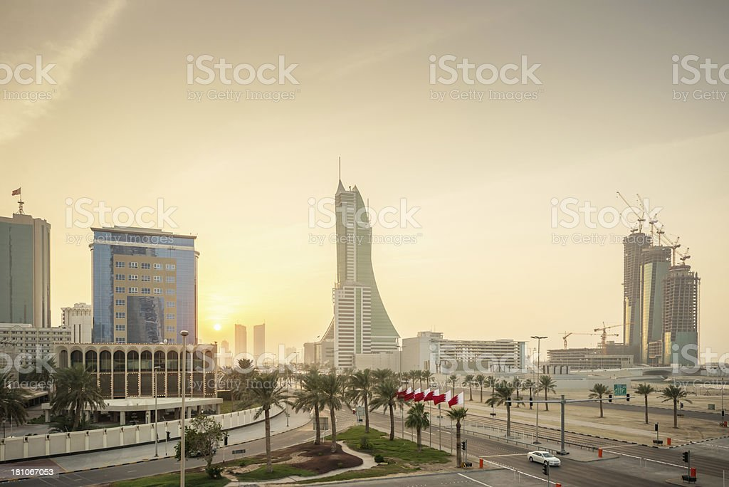 Bahrain Financial Harbour Cityscape stock photo