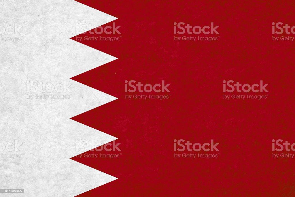 Bahrain flag royalty-free stock photo