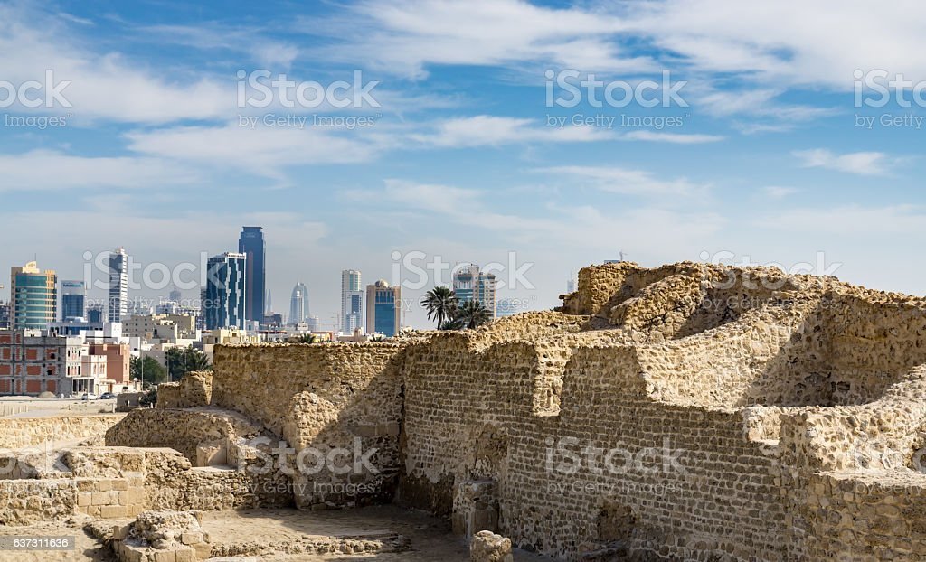 Bahrain Fort in Kingdom of Bahrain stock photo