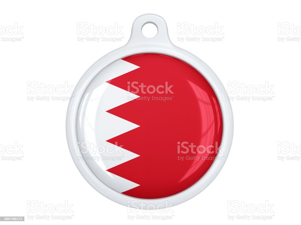 Bahrain medal stock photo