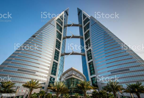 Bahrain Wtc World Trade Center Building Manama Stock Photo - Download Image Now