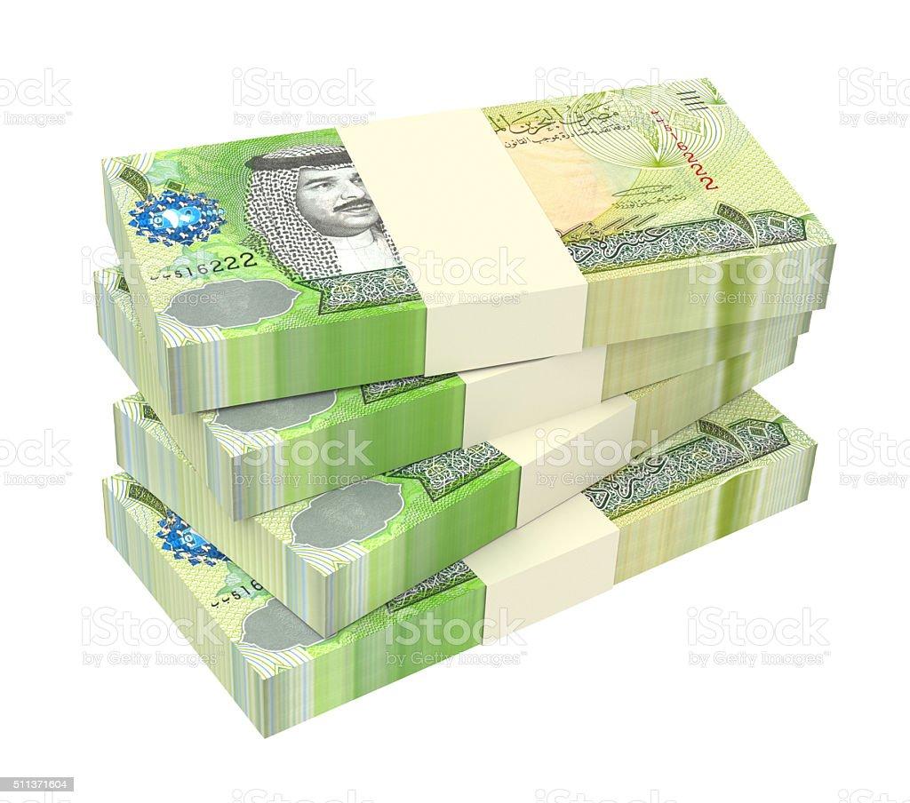 Bahraini Dinar Bills Isolated On White Background Stock Photo More