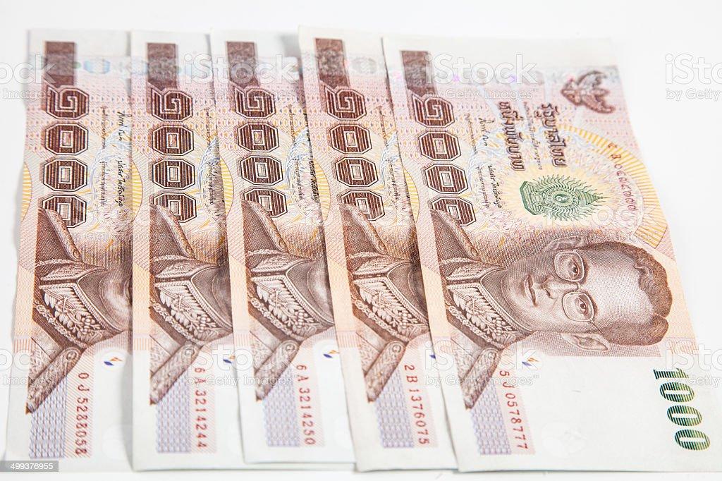 1000 baht Thai bank notes royalty-free stock photo