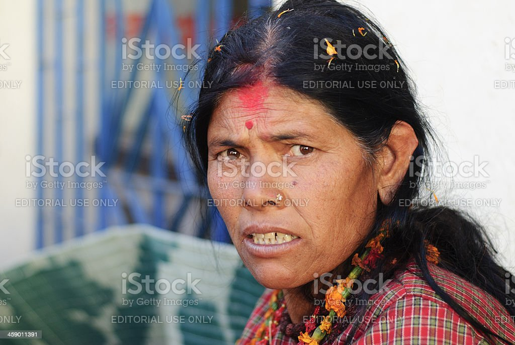 Bahun woman from Nepal royalty-free stock photo