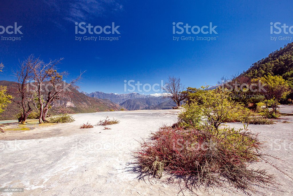 Bai Shui Terraces. Yunnan, China stock photo