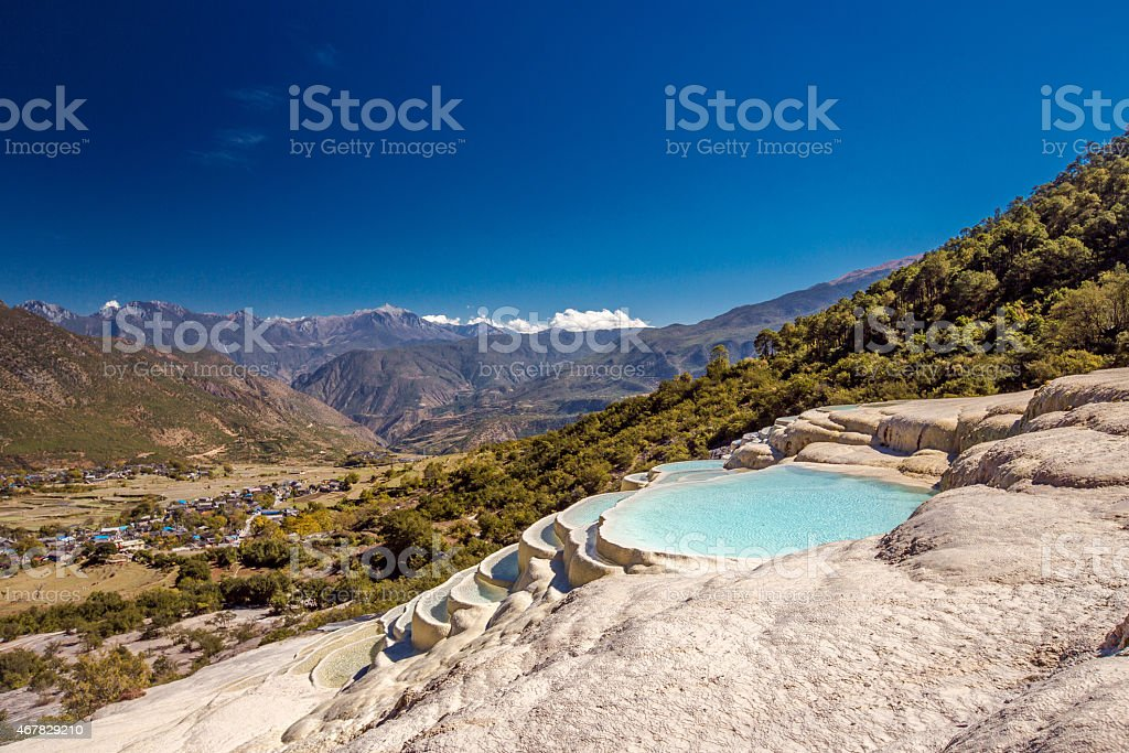 Bai Shui Terraces. Yunnan, China stock photo