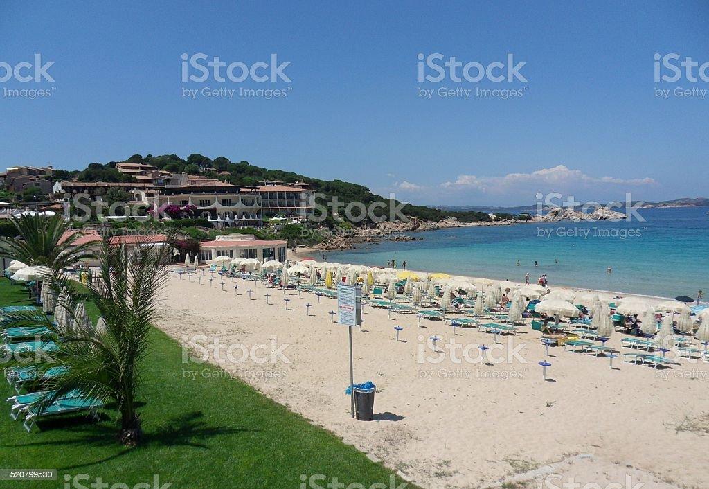 Baia Sardinia - Spiaggia stock photo