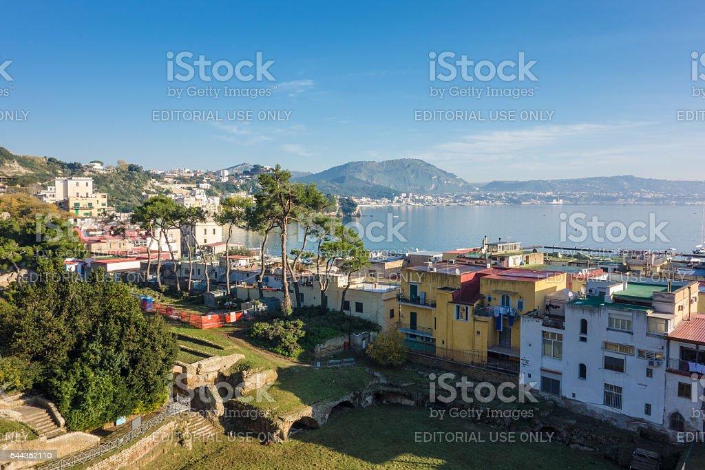 Baia Town and Pozzuoli Coastline stock photo